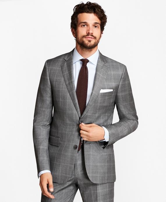 Regent Fit Double-Windowpane 1818 Suit Grey