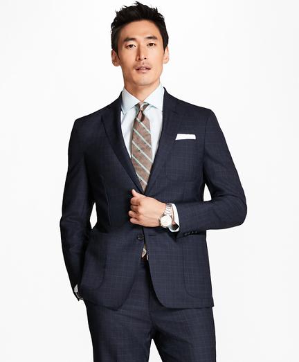 Regent Fit BrooksCloud™ Screen Weave with Windowpane 1818 Suit