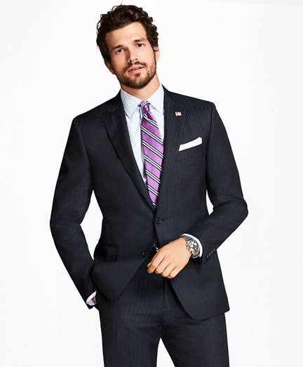 Regent Fit Tic Alternating Stripe 1818 Suit