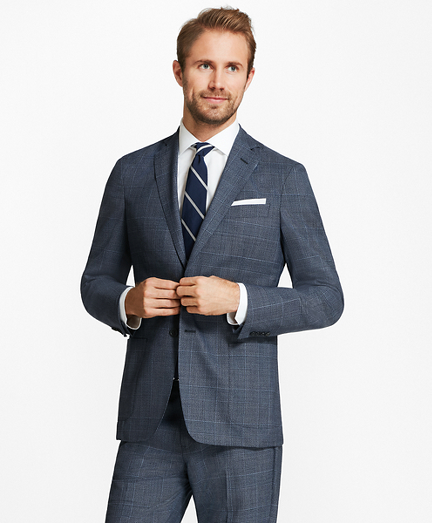 Regent Fit BrooksCloud™ Plaid Suit