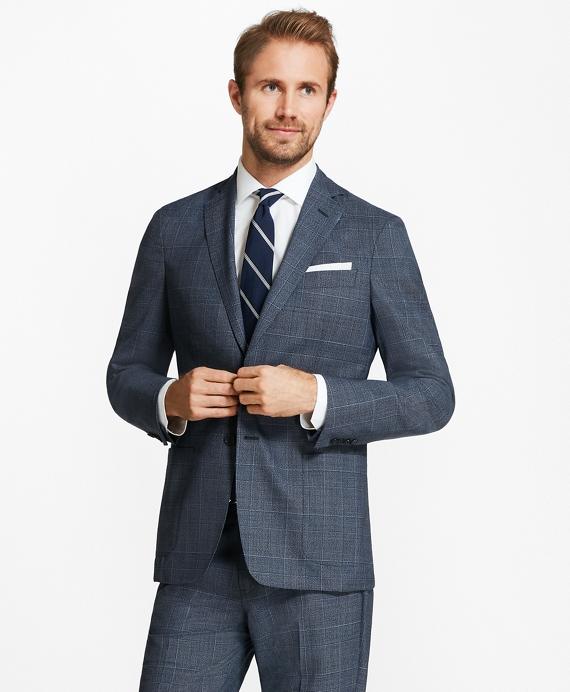 Regent Fit BrooksCloud™ Plaid Suit Blue
