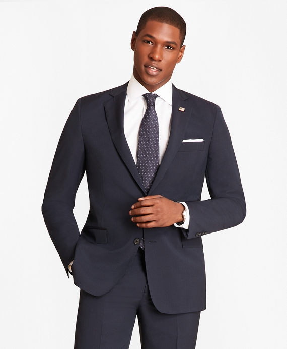 Regent Fit Vertical Stripe 1818 Suit Navy