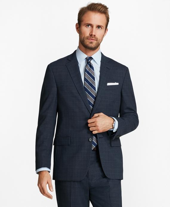 Regent Fit BrooksCool® Plaid Suit Blue