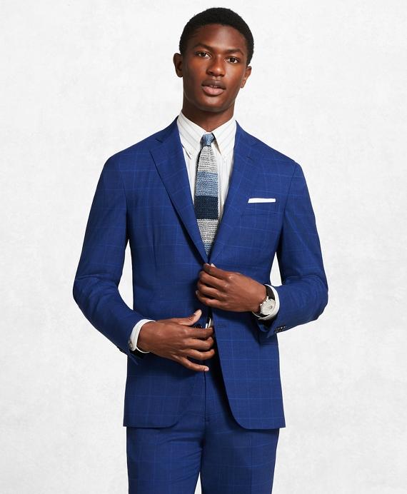 Golden Fleece® Window Check Suit Blue