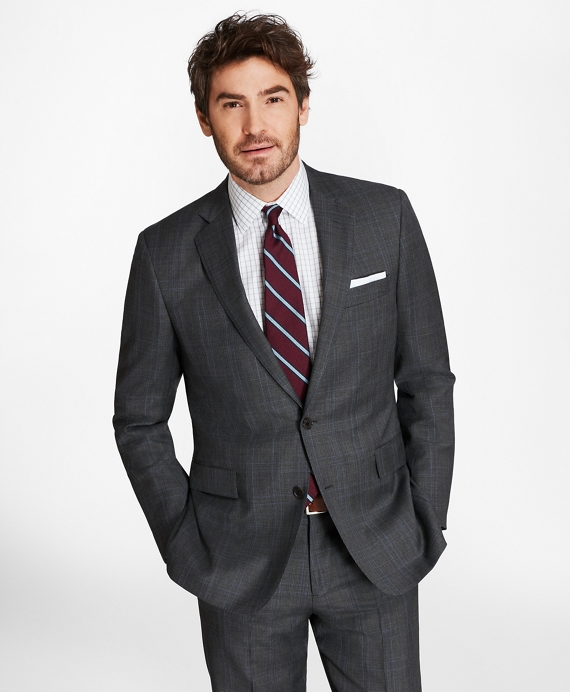Regent Fit Plaid with Deco 1818 Suit Brown