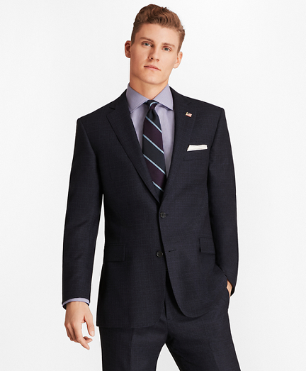 Brooks Brothers Regent Fit Two-Button 1818 Suit (Dark Blue)
