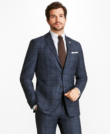Regent Fit BrooksCloud™ Windowpane 1818 Suit