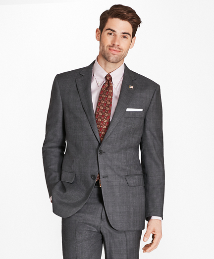 Madison Fit Saxxon™ Wool Windowpane 1818 Suit