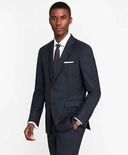 Milano Fit Saxxon™ Wool Plaid 1818 Suit