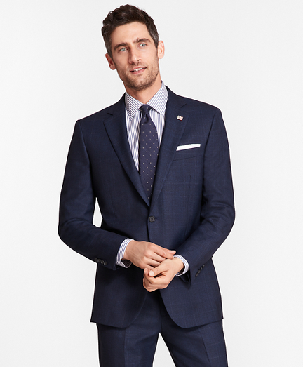 Madison Fit Blue Windowpane 1818 Suit