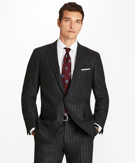 992631c4f69 Regent Fit Pinstripe Flannel 1818 Suit
