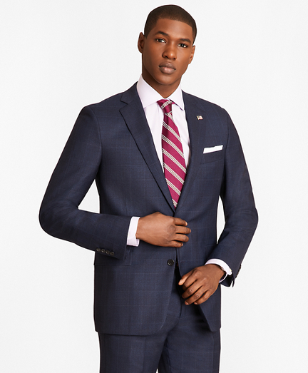 Regent Fit Blue Windowpane 1818 Suit