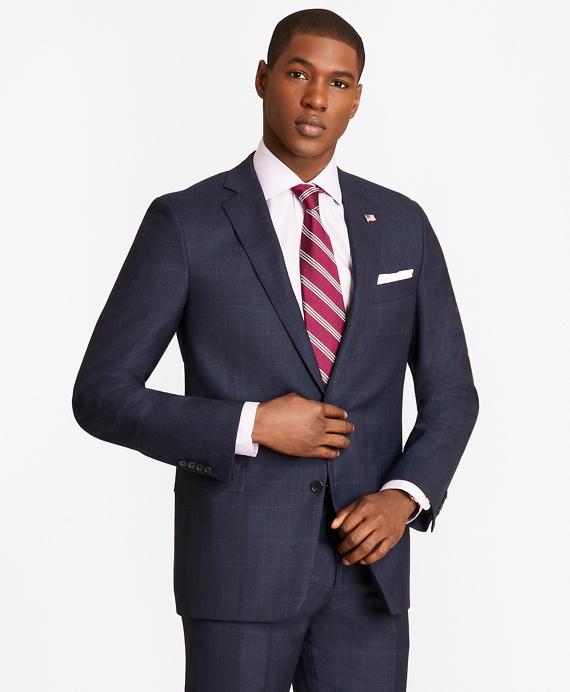 Regent Fit Blue Windowpane 1818 Suit Blue