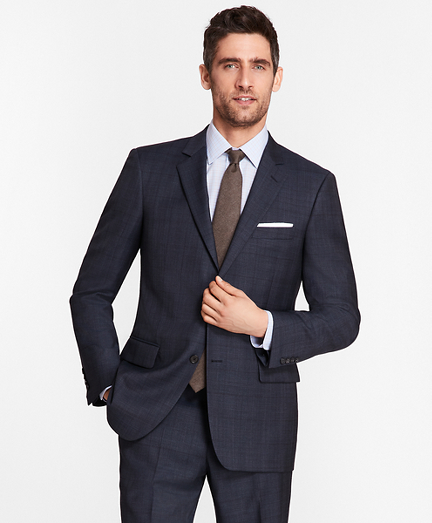 Madison Fit Saxxon™ Wool Blue Plaid 1818 Suit