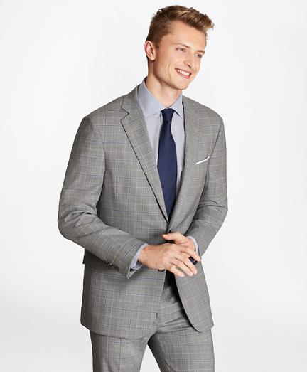 Regent Fit BrooksCool® Plaid Suit