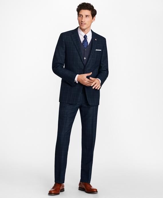 Regent Fit Windowpane 1818 Suit Navy