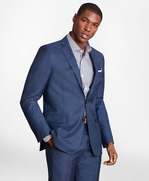 BrooksGate™ Regent-Fit Wool Twill Suit Jacket Blue