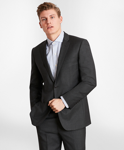 BrooksGate™ Milano-Fit Wool Twill Suit Jacket