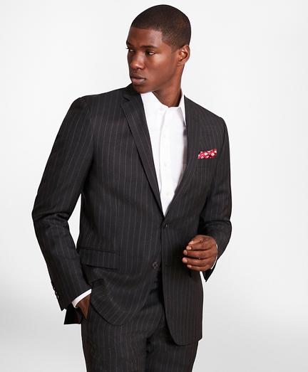 BrooksGate™ Regent-Fit Striped Wool Twill Suit Jacket