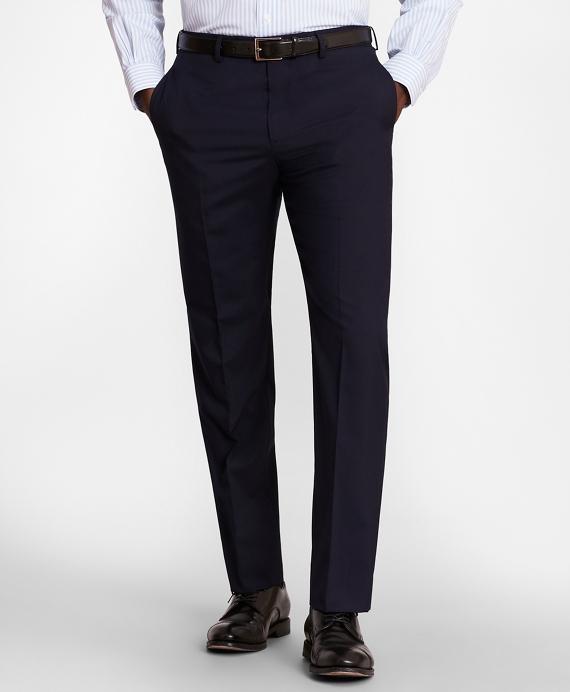 BrooksGate™ Regent-Fit Wool Suit Pants Navy