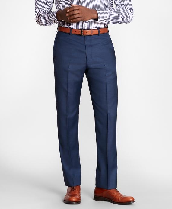 BrooksGate™ Regent-Fit Wool Twill Suit Pants Blue