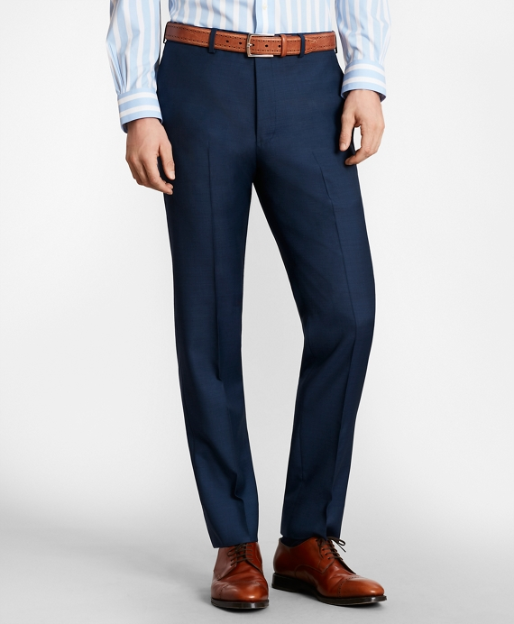 BrooksGate™ Milano-Fit Wool Twill Suit Pants Blue