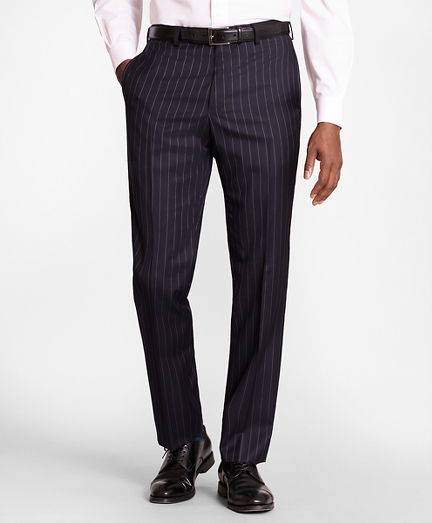 BrooksGate™ Regent-Fit Bead-Stripe Wool Twill Suit Pants