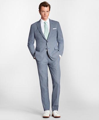 Regent Fit BrooksCool® Houndstooth Suit