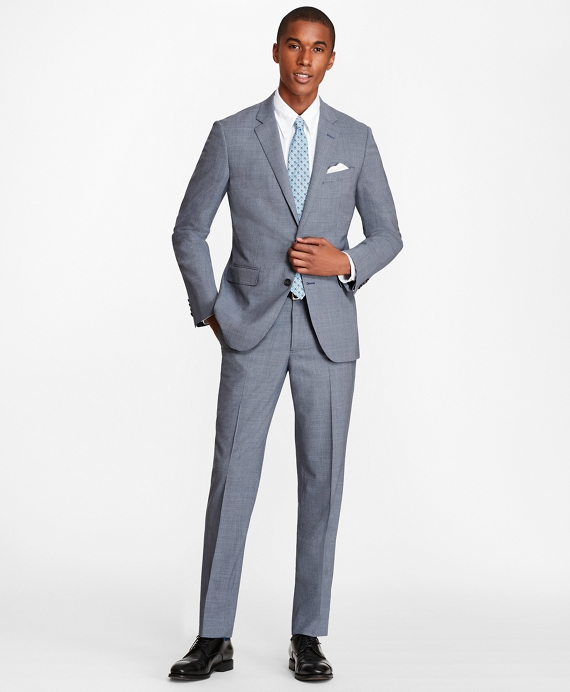 Milano Fit BrooksCool® Houndstooth Suit Navy