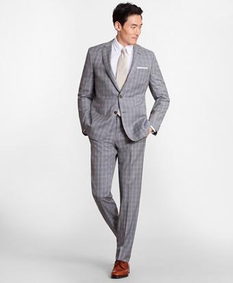 Regent Fit Three-Button Check 1818 Suit