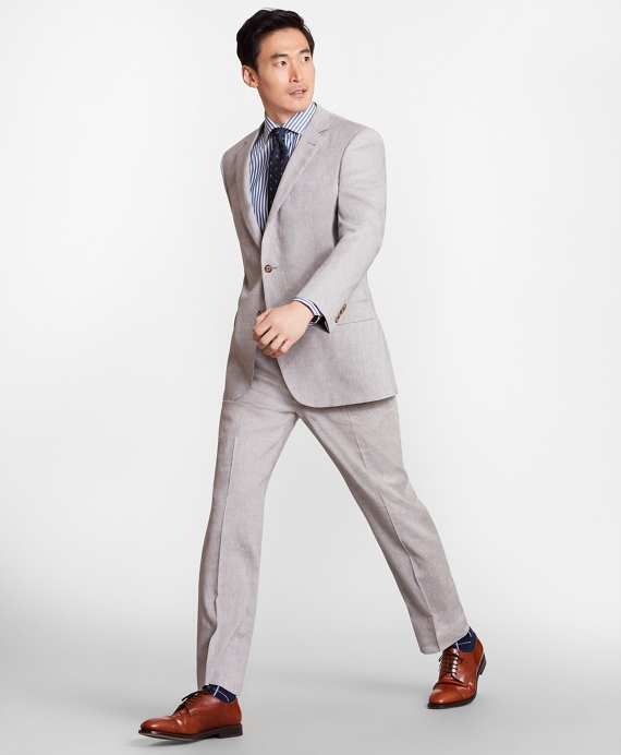 Madison Fit Linen Blend 1818 Suit Natural