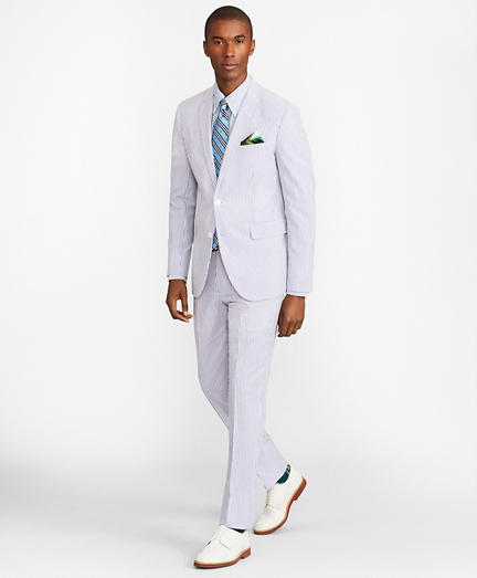 Milano Fit Stripe Seersucker Suit