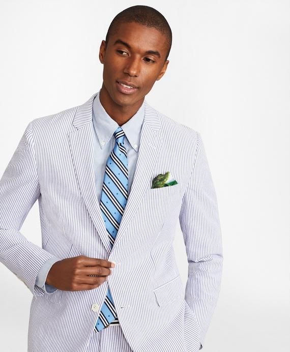 Milano Fit Stripe Seersucker Suit Brooks Brothers