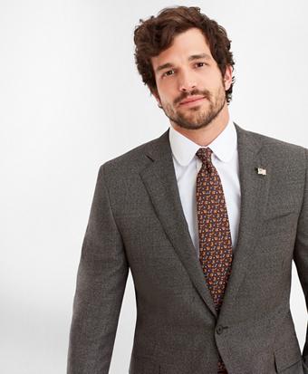 Regent Fit Two-Button Grey Black 1818 Suit