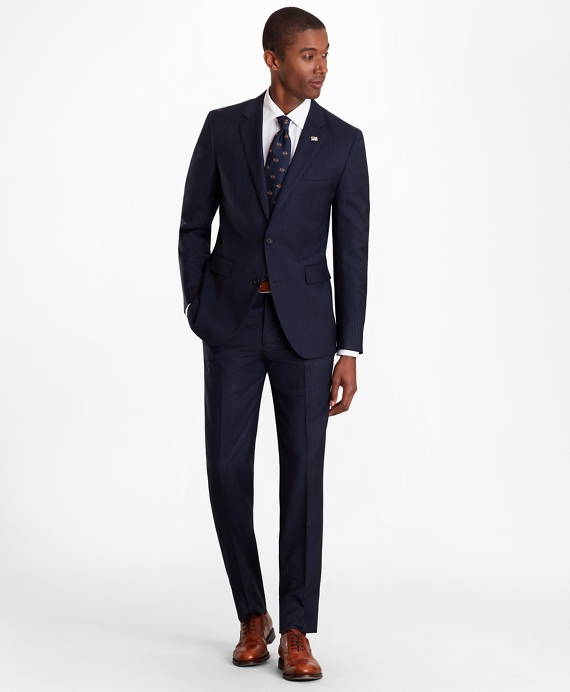 Milano Fit Pinstripe 1818 Suit Navy