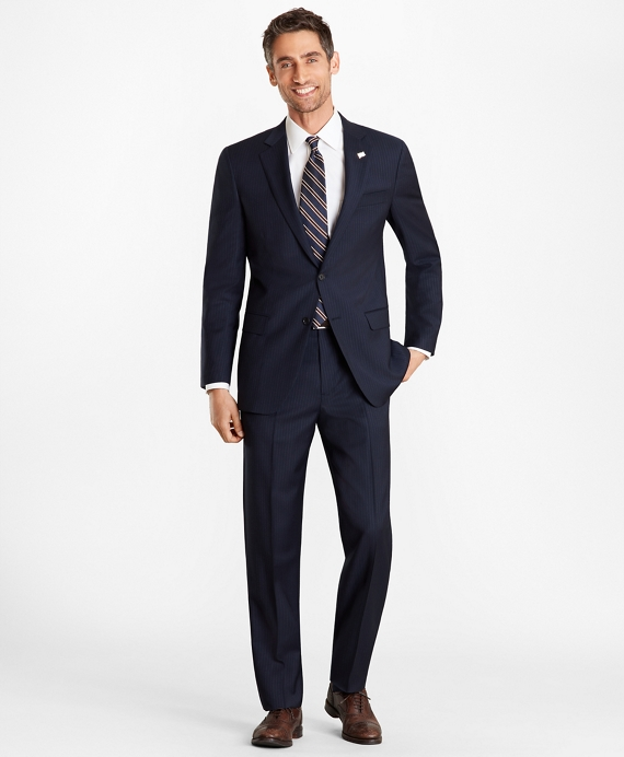Madison Fit Pinstripe 1818 Suit Navy