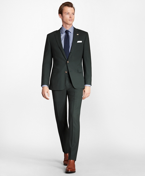 Regent Fit Three-Button 1818 Suit Dark Green