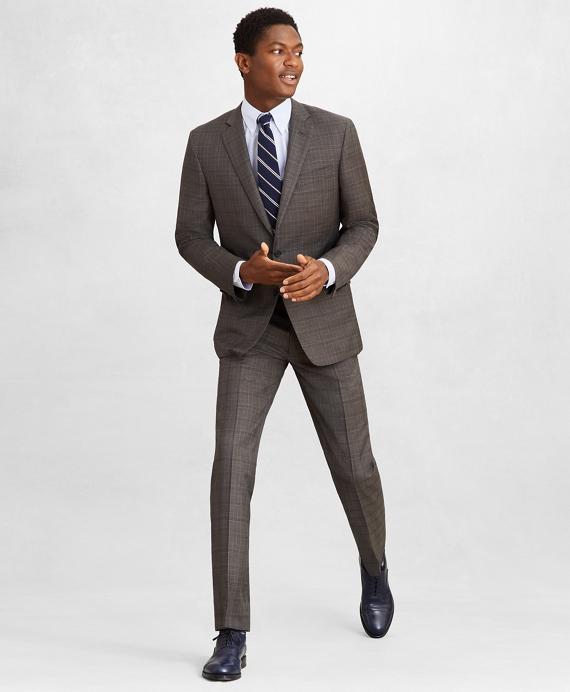 Golden Fleece® Regent Fit Plaid Suit Grey