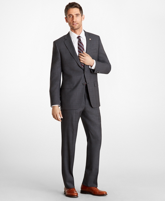 Madison Fit Plaid 1818 Suit Charcoal