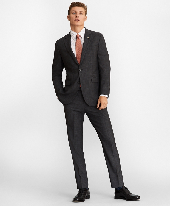 Milano Fit Plaid 1818 Suit Charcoal