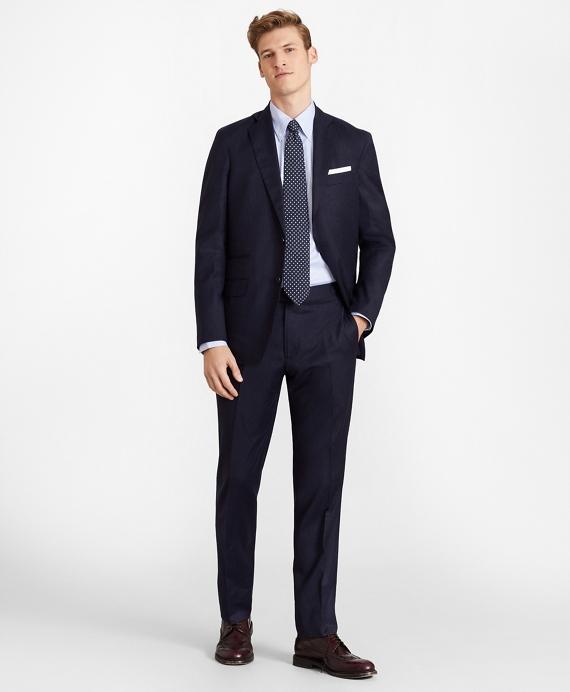 Golden Fleece® Three-Button Flannel Suit Navy
