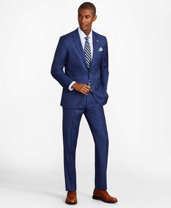 Milano Fit Sharkskin 1818 Suit Blue