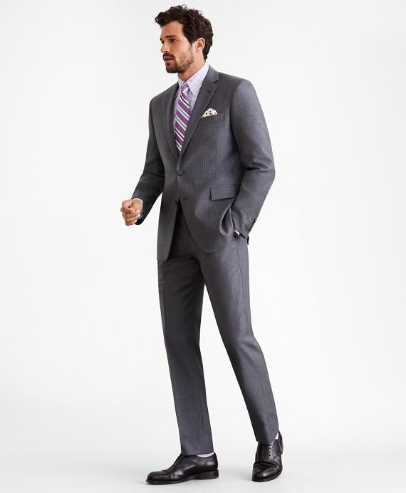 Regent Fit Two-Button Grey Stripe 1818 Suit Grey