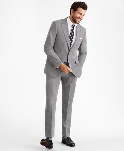 Regent Fit Three-Button Houndstooth 1818 Suit