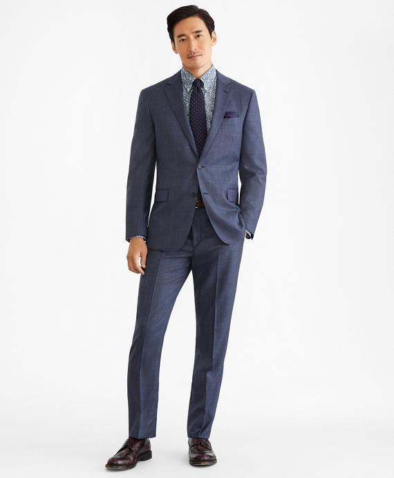 Regent Fit Two-Button Plaid 1818 Suit Navy