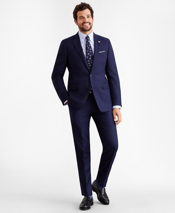 Regent Fit Two-Button Stripe 1818 Suit Navy