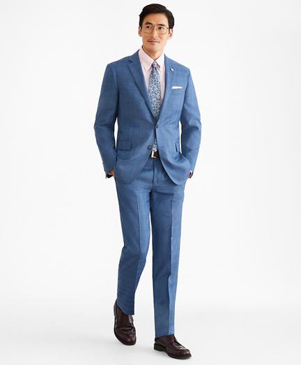 Regent Fit Two-Button Plaid 1818 Suit