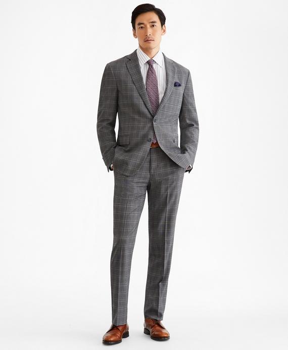 Regent Fit BrooksCool® Check Suit Grey