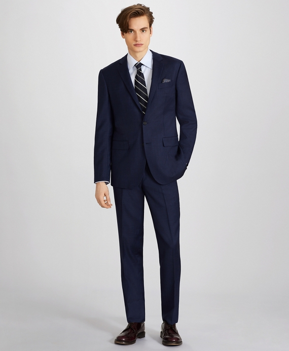 Milano Fit Wool Two-Button 1818 Suit Navy