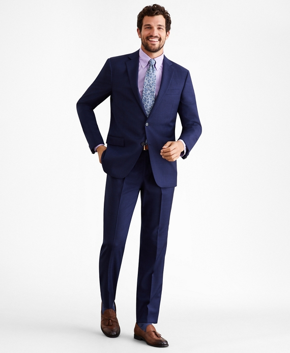 Regent Fit Wool Two-Button 1818 Suit Navy